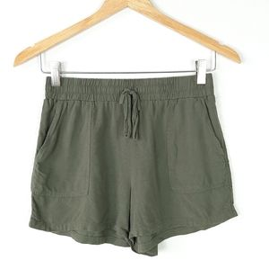JOE BENBASSET Olive Drawstring Shorts Size M
